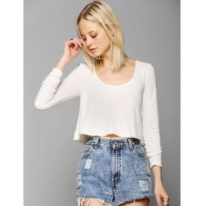 Urban Outfitters Kimchi Blue Float On Crop Top